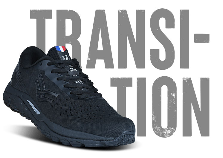 Chaussure running made in france homme transition MIF 1 noir