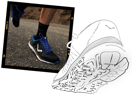 Photo de la foulée médio-pied