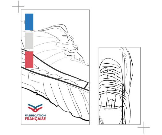 Dessin de la conception des chaussures VEETS