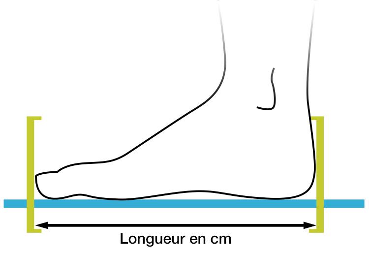 Schéma de mesure du pied